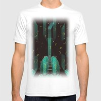 Breathing Music Tonight Mens Fitted Tee White SMALL