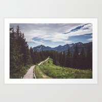 Greetings from the trail Art Print