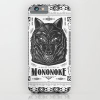 iPhone & iPod Case featuring Mononoke Hime Wolf Pride Letterpress Line Work by Barrett Biggers