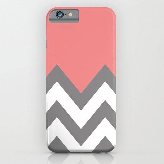 CORAL COLORBLOCK CHEVRON iPhone & iPod Case