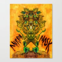 Mirror Mask Canvas Print