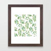 Willow -Green Framed Art Print