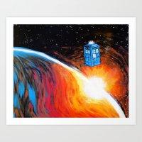 Time Travel Tardis Art Print