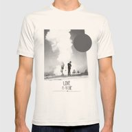 Love Is To Die | Collage Mens Fitted Tee Natural SMALL