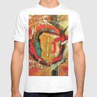 Abstract 1 Mens Fitted Tee White SMALL
