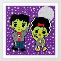The Frankenstein Stomp Art Print