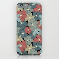 iPhone & iPod Case featuring Pale Flower Pattern by Robin Curtiss
