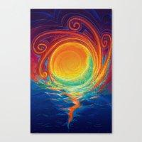 Sun Moon & Stars Canvas Print