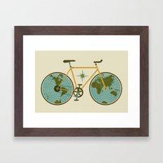 Ride For The World Framed Art Print