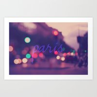 Paris Lights Art Print