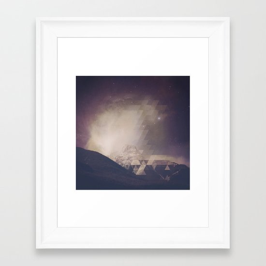 Space Mountain Framed Art Print