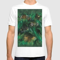 The Mountain Jungle Eyes Mens Fitted Tee White SMALL