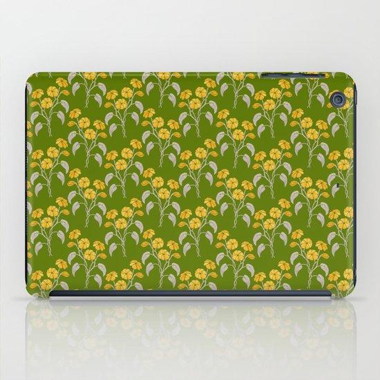 Flowers Green Pattern iPad Case