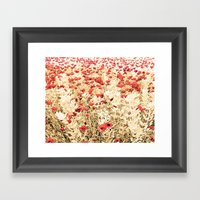 Field of Blooms Framed Art Print