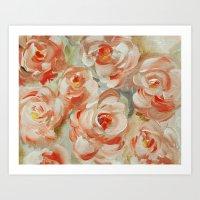 Shabby Flowers Art Print