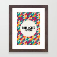Triangles Pattern Framed Art Print