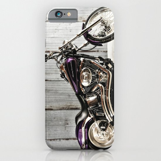 Purple Harley Softail iPhone & iPod Case