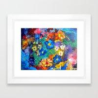 Flora Azul Framed Art Print