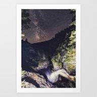 Art Print featuring Falling Into Orbit by Shaun Lowe