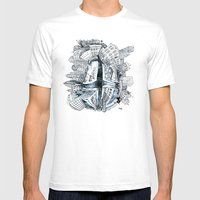 The City Bean  Mens Fitted Tee White SMALL