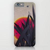 iPhone & iPod Case featuring Red Heat with Dragonflies by Angelo Cerantola