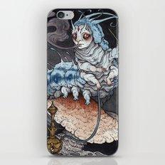 Absolem the Blue Caterpillar art print iPhone & iPod Skin
