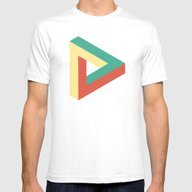 Triangle Impossible Mens Fitted Tee White SMALL