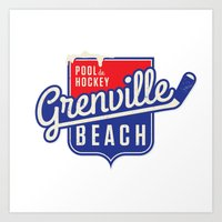 Pool de Hockey Grenville Beach Art Print