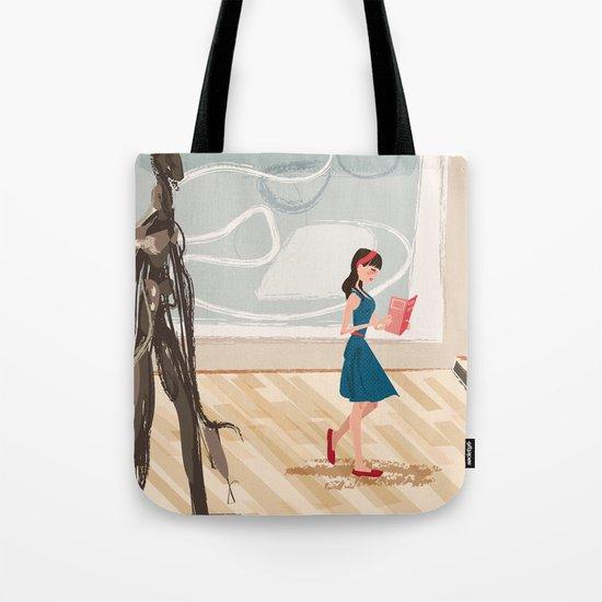 Pretty Girl at the Art Museum Tote Bag
