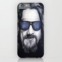 iPhone & iPod Case featuring The Dude Lebowski by Black Neon