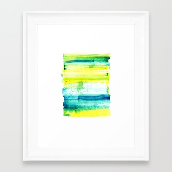 Swimming Upstream Framed Art Print