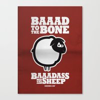 Baaadass the Sheep: Baaad to the Bone Canvas Print