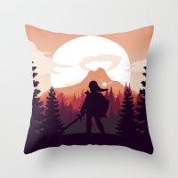 The Legend of Zelda - Orange Version Throw Pillow