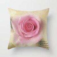 Go Lovely Rose Throw Pillow