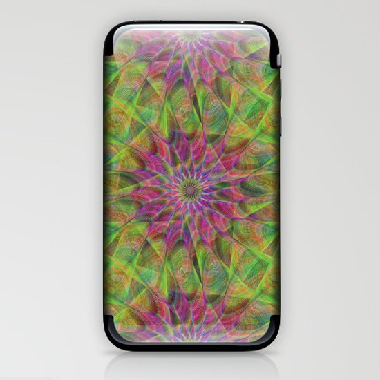 Fractal pattern iPhone & iPod Skin