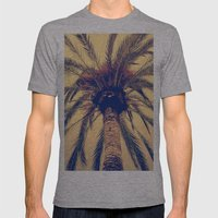 Tenerife Palm Tree Mens Fitted Tee Athletic Grey SMALL