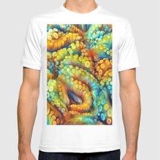 Tentacles White SMALL Mens Fitted Tee