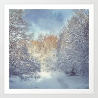White Blanket Art Print