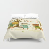 Critters: Spring Dancing Duvet Cover