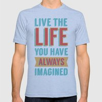 LIVE LIFE Mens Fitted Tee Athletic Blue SMALL