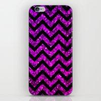 Chevron Purple Sparkle iPhone & iPod Skin