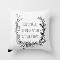 Small Things Throw Pillow