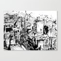 ink city Canvas Print