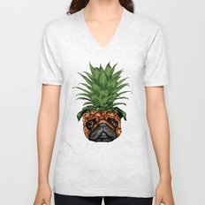Pineapple Pug  Unisex V-Neck