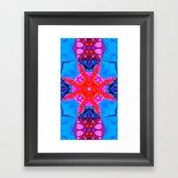 Liquid Blue Pink Fractal Framed Art Print
