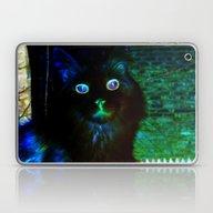 Laptop & iPad Skin featuring Spooky Cat by Minx267