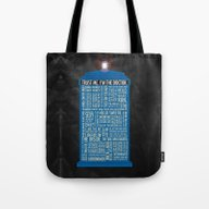 Tote Bag featuring Doctor Who  by Luke Eckstein