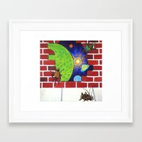 Crickets in the Walls Framed Art Print