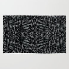 Ab Lace Black and Grey Rug