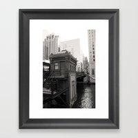 Black And White Chicago … Framed Art Print